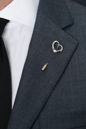 Silver Heart Lapel Pin – Hugh & Crye - 1