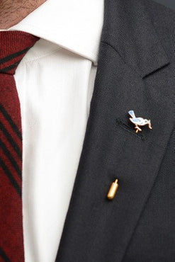 Blue Bird Lapel Pin – Hugh & Crye