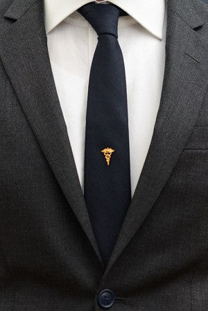 Caduceus Tie Pin – Hugh & Crye