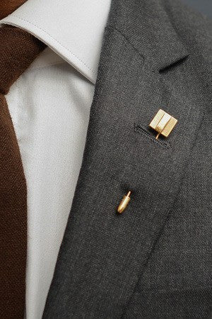 Deco Square Lapel Pin – Hugh & Crye