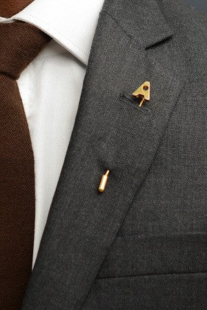 Letter A Lapel Pin – Hugh & Crye