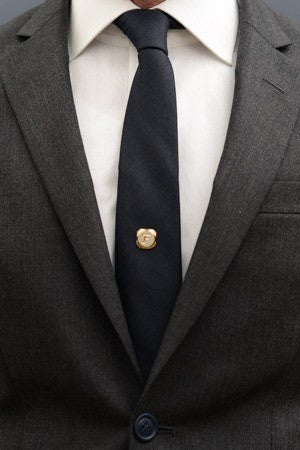 Letter F Tie Pin – Hugh & Crye