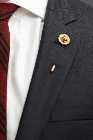 Rose Lapel Pin – Hugh & Crye