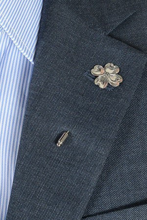Metal Flower Lapel Pin – Hugh & Crye