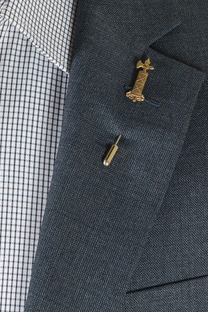Vertical Crest Lapel Pin – Hugh & Crye