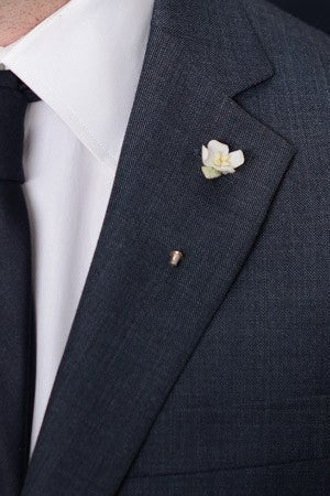 White Flower Lapel Pin – Hugh & Crye