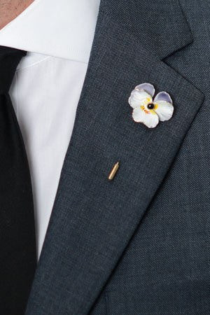White Poppy Lapel Pin – Hugh & Crye - 1