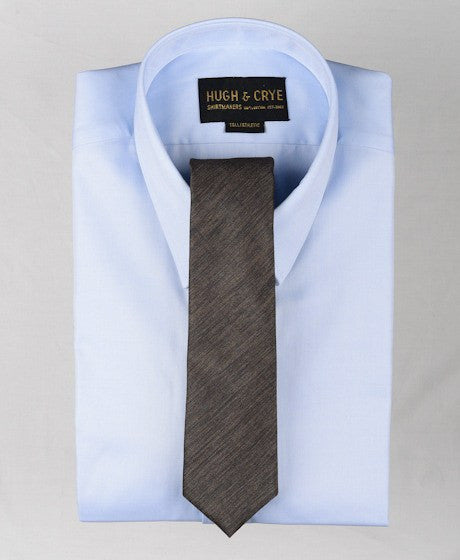 Agency Brown Pattern Tie – Hugh & Crye - 2