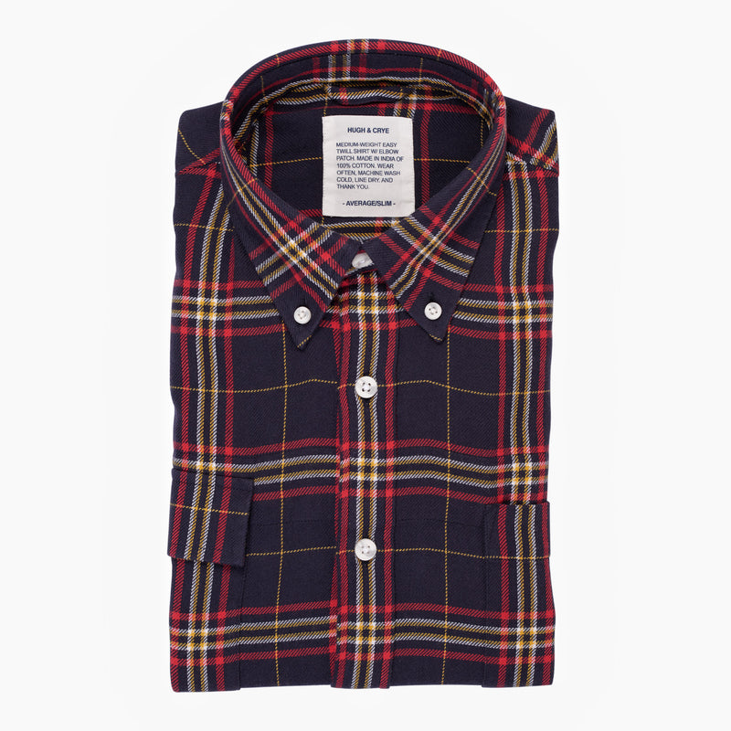 Indigo Red Plaid - Medium Weight Field Shirt - Swanson