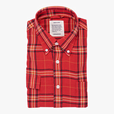 Red Yellow Plaid - Medium Weight Field Shirt  - Swanson