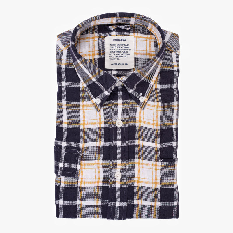 Indigo Yellow Plaid - Medium Weight Field Shirt - Swanson