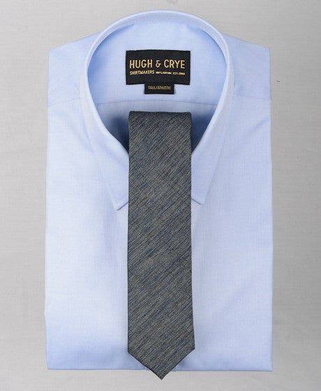 Agency Blue-Grey Pattern Tie – Hugh & Crye - 2