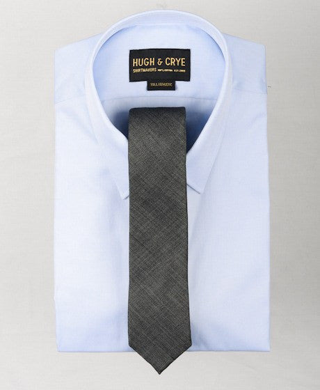Agency Charcoal Sharkskin Tie – Hugh & Crye - 2