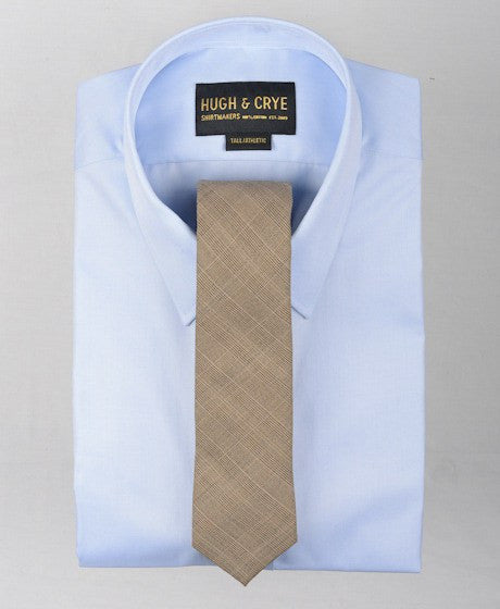Agency Brown Glen Plaid Tie – Hugh & Crye - 2