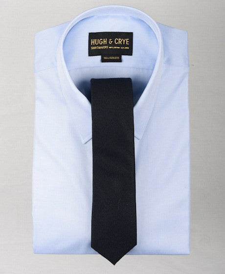 Agency Navy Sharkskin Tie – Hugh & Crye - 2