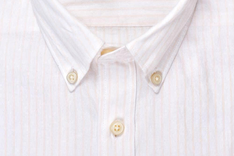 Silo Pink Stripe Oxford Cloth Button-Down Shirt Collar