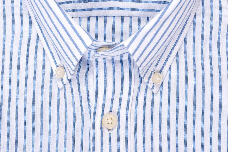 Silo Blue Stripe Oxford Cloth Button-Down Shirt Collar