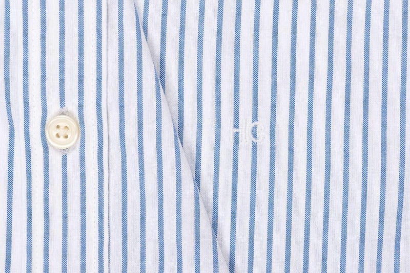 Silo Blue Stripe Oxford Cloth Button-Down Shirt Monogram