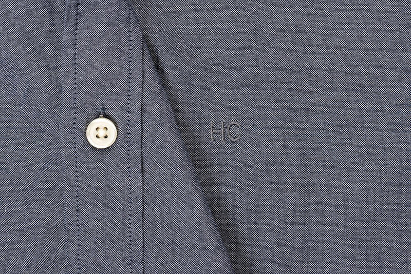 Silo Dark Indigo Chambray Oxford Button-Down Monogram