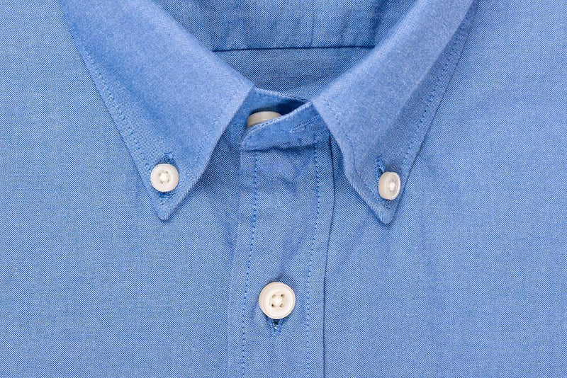 Silo Blue Oxford Cloth Button-Down Shirt Collar