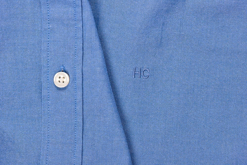 Silo Blue Oxford Cloth Button-Down Shirt Monogram