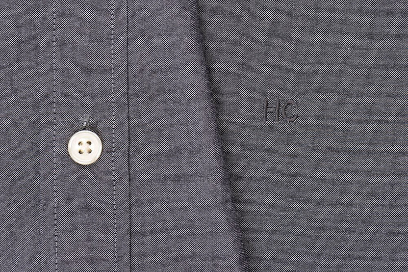 Silo Charcoal Oxford Cloth Button-Down Shirt Monogram