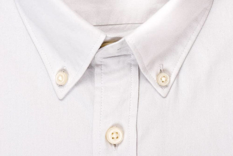 Silo Light Gray Oxford Button-Down Shirt Collar