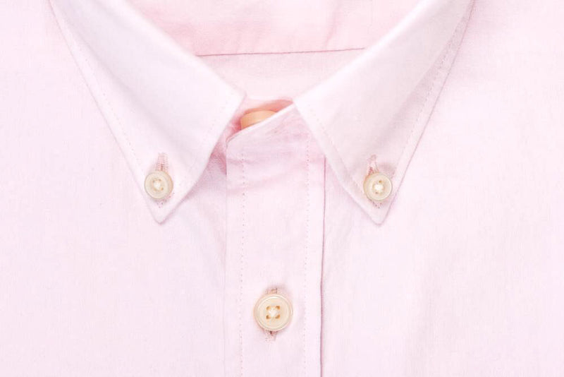 Silo Pink Oxford Button-Down Shirt Collar