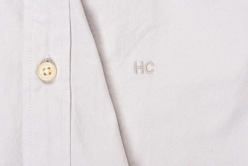 Silo Light Gray Oxford Button-Down Shirt Monogram