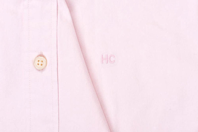 Silo Pink Oxford Button-Down Shirt Monogram