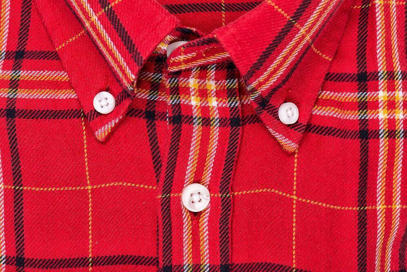 Red Yellow Plaid - Medium Weight Field Shirt Collar - Swanson