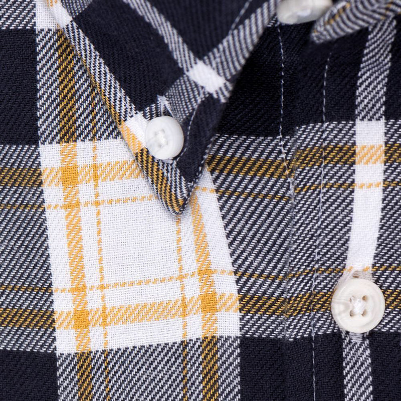 Indigo Yellow Plaid - Medium Weight Field Shirt Fabric - Swanson