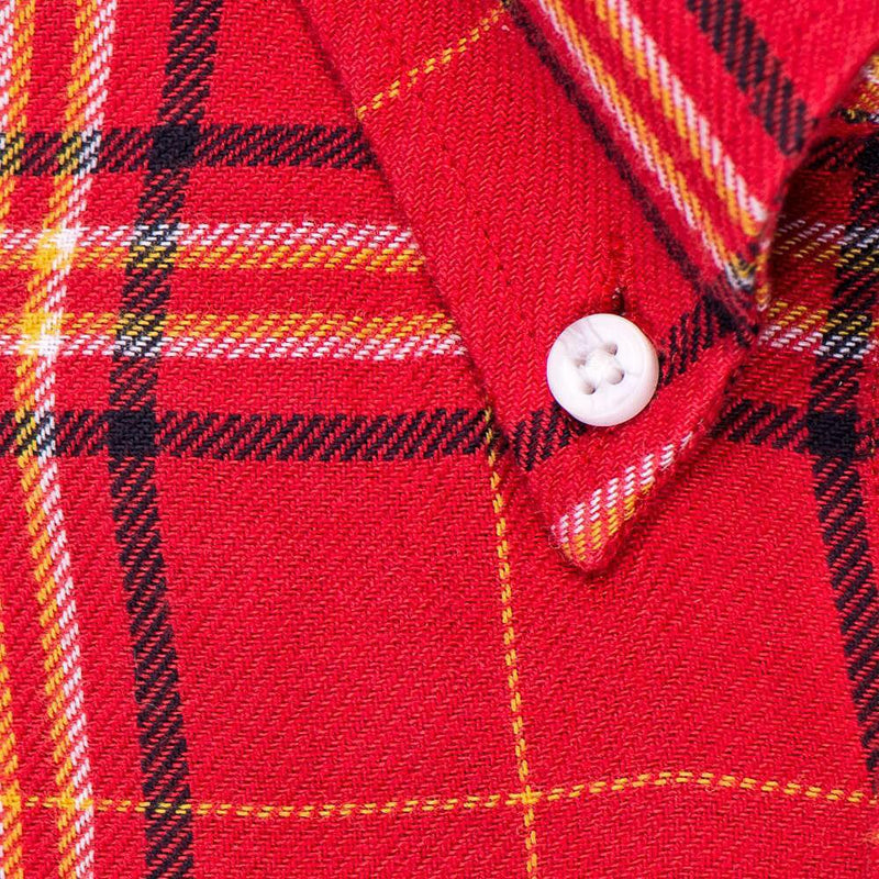 Red Yellow Plaid - Medium Weight Field Shirt Fabric - Swanson