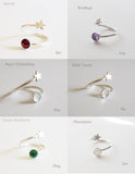 Star & Sun Birthstone Dual Ring Vermeil Gold and sterling silver Ring