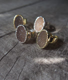 Natural Druzy Golden Ring