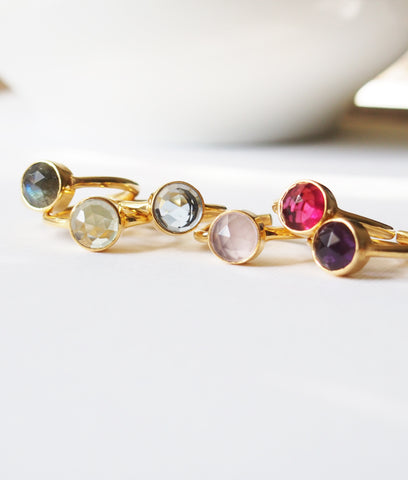 Birthstone Gemstone Golden Ring