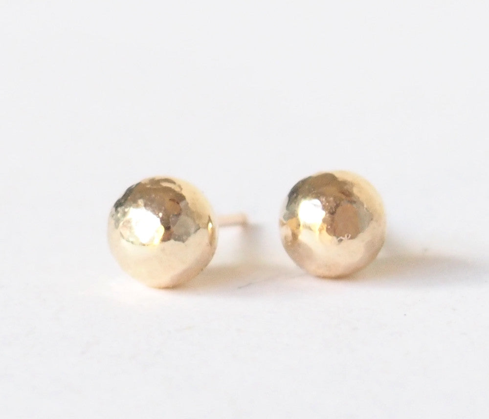 Gold Filled Nuggets Ball Stud Earrings