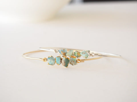 Oct Birthstone Raw Opal Bracelet Rough Gemstone Bangle Bracelet