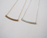 Curve 14K Gold Filled Or Sterling Silve Blank Layering Layered Pendant Necklace