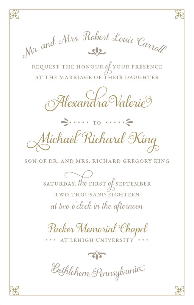 Alexandra - Wedding Invitation