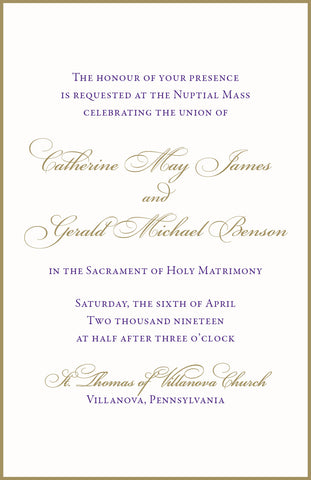 Catherine - Wedding Invitation