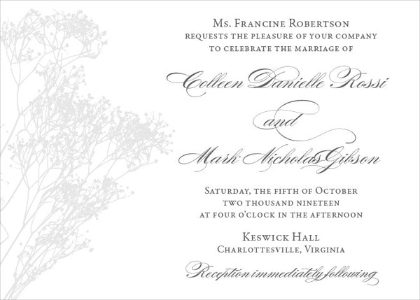 Colleen - Wedding Invitation
