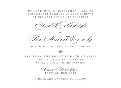 Elizabeth - Wedding Invitation