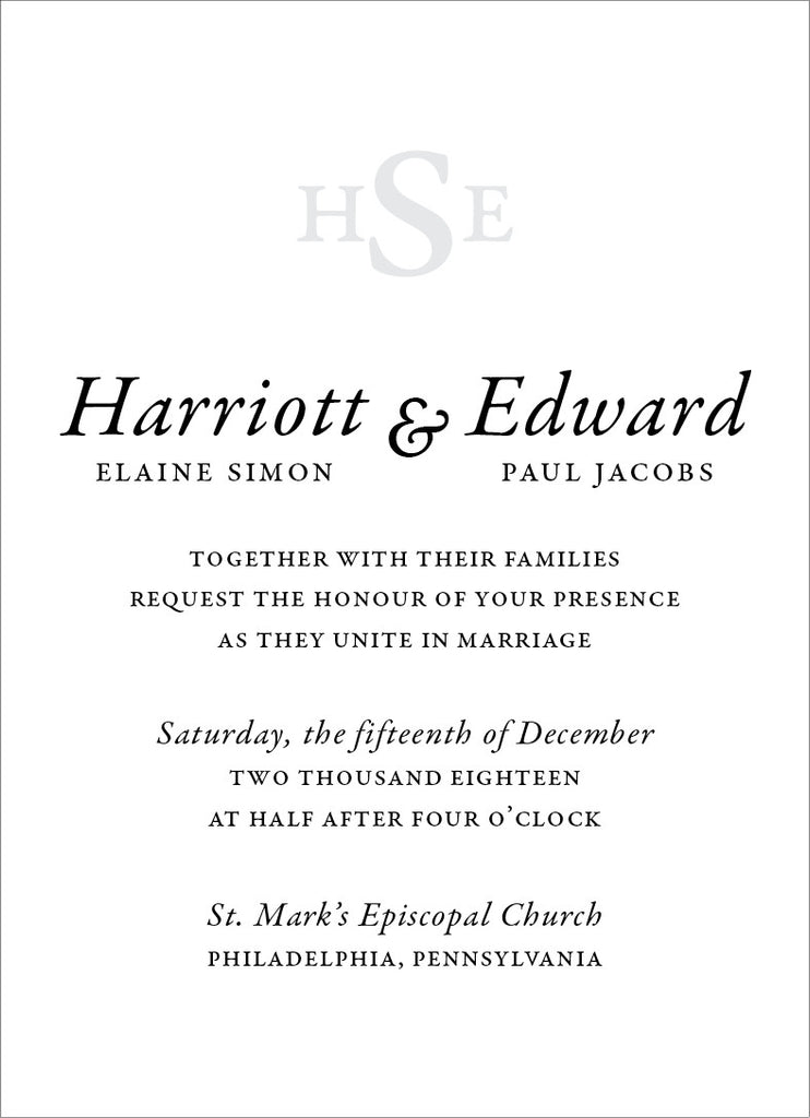 Hattie - Wedding Invitation