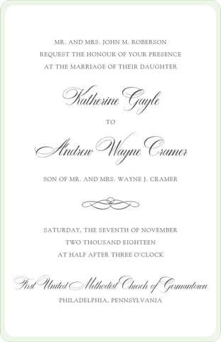 Katie - Wedding Invitation