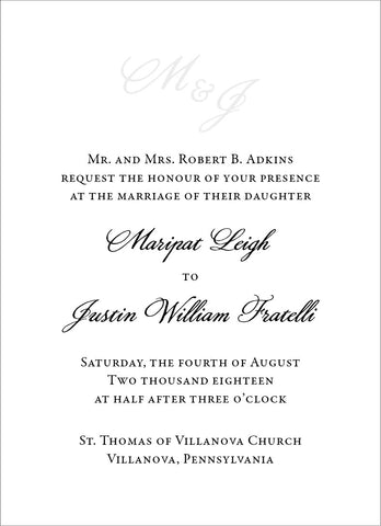 Maripat - Wedding Invitation