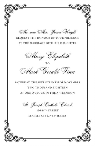 Mary Beth - Wedding Invitation