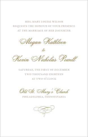 Megan - Wedding Invitation