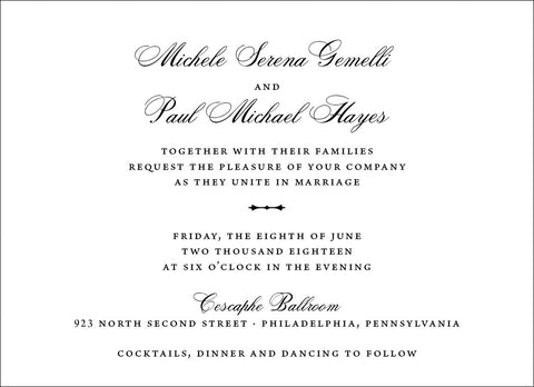 Michele - Wedding Invitation