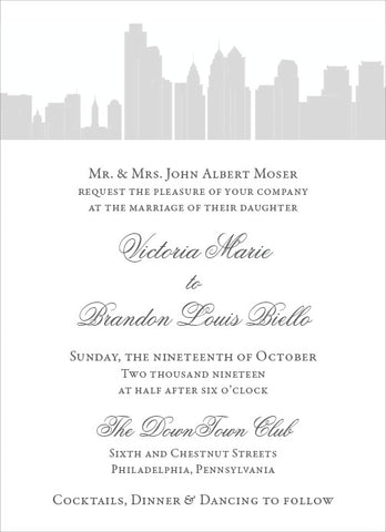 Victoria - Wedding Invitation